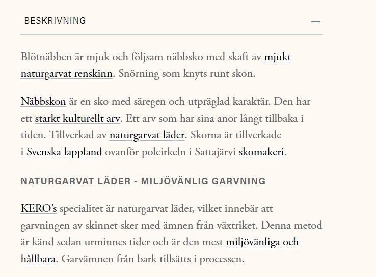 Kicki skinn babysko fra Kero Tysfjord ASVO